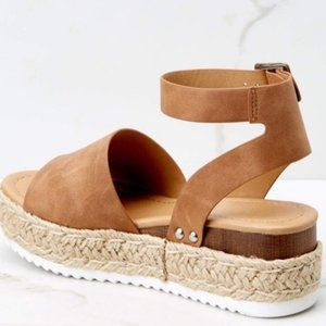 Sale 🌻Tan Espadrille Flatform Sandals